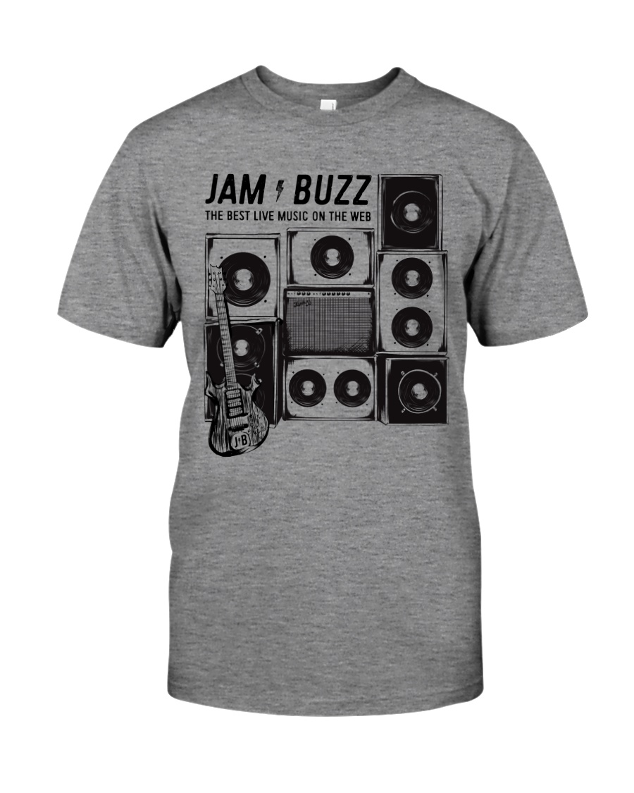 Jam Buzz Jerry Garcia Guitar Tee Classic T-Shirt Premium Fit Mens Tee