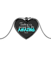 Today Is Going To Be Amazing - Signature Design 1 Metallic Heart Necklace thumbnail