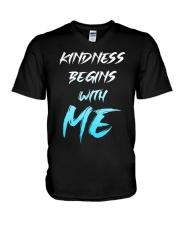 Kindness Begins With Me 1 V-Neck T-Shirt thumbnail