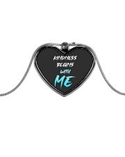 Kindness Begins With Me 1 Metallic Heart Necklace thumbnail