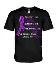 The Purple Ribbon V-Neck T-Shirt front