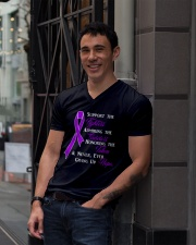 The Purple Ribbon V-Neck T-Shirt lifestyle-mens-vneck-front-1