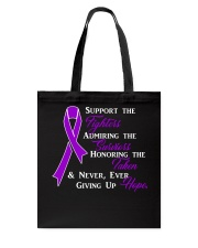 The Purple Ribbon Tote Bag front