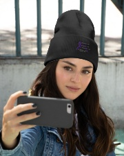 The Purple Ribbon Knit Beanie embroidery-beanie-lifestyle-11