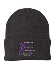 The Purple Ribbon Knit Beanie front