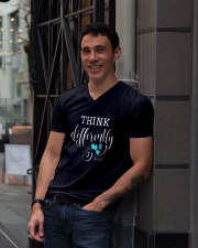 Think Differently 1 V-Neck T-Shirt lifestyle-mens-vneck-front-1