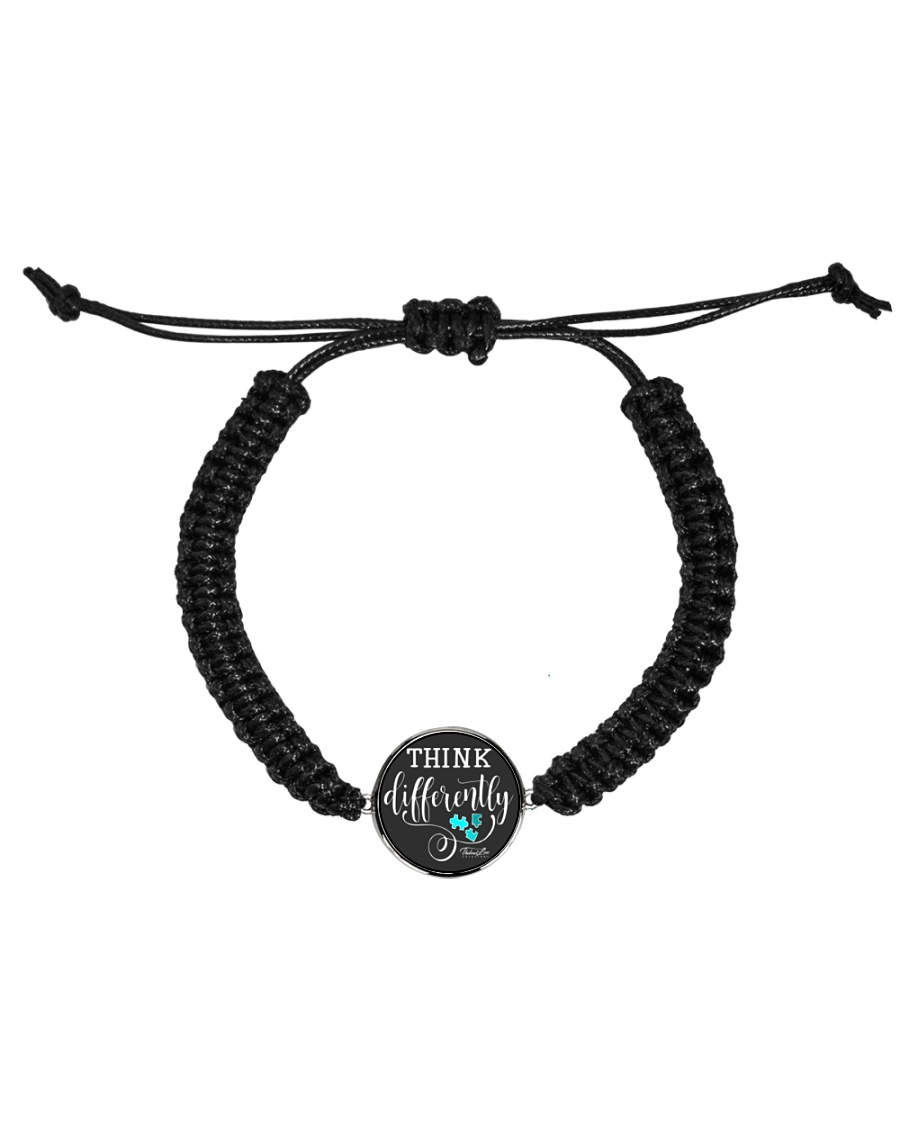 Think Differently 1 Cord Circle Bracelet