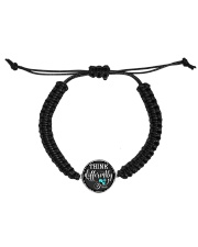 Think Differently 1 Cord Circle Bracelet front