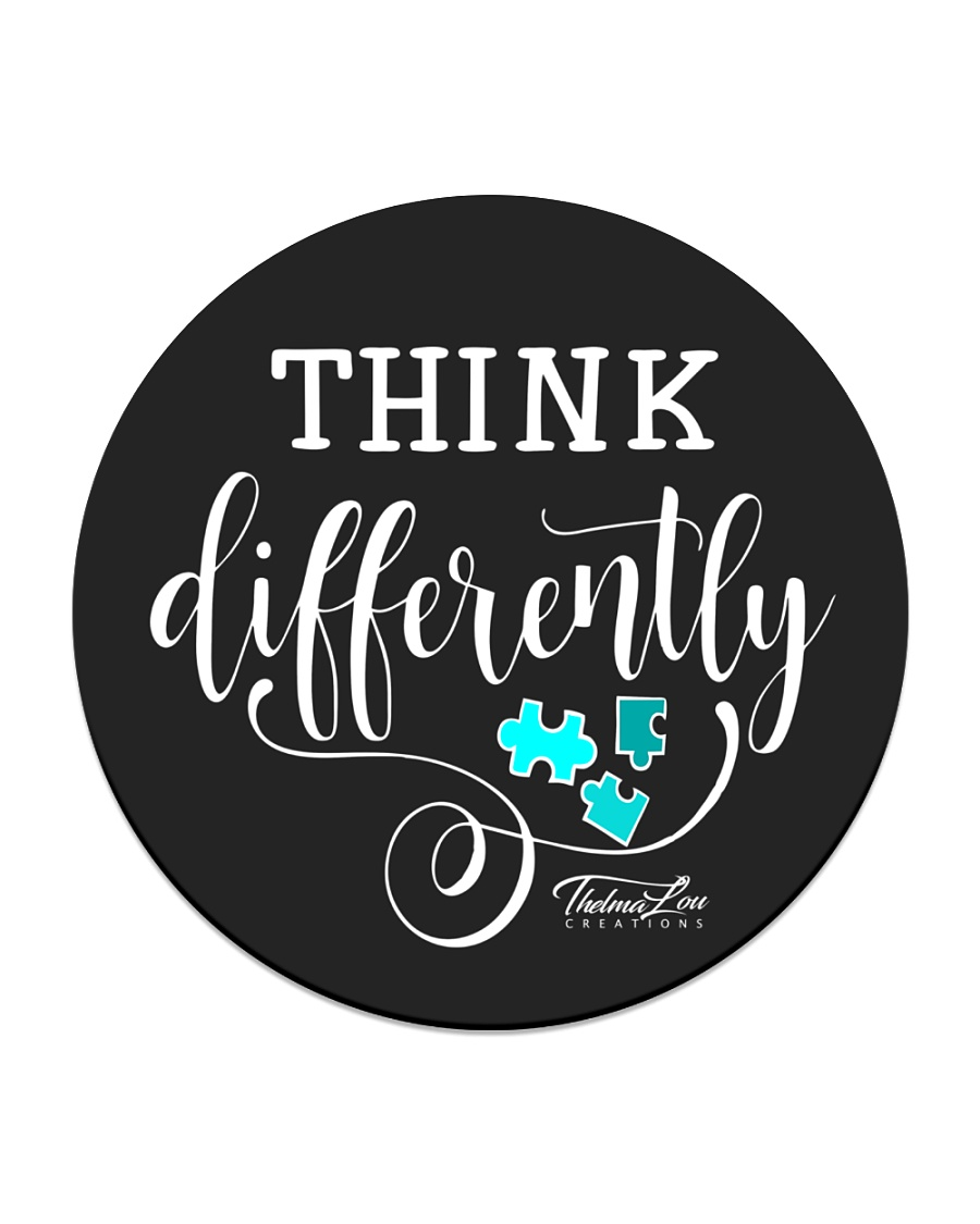 Think Differently 1 Circle Coaster