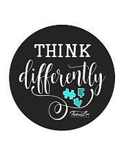 Think Differently 1 Circle Coaster front