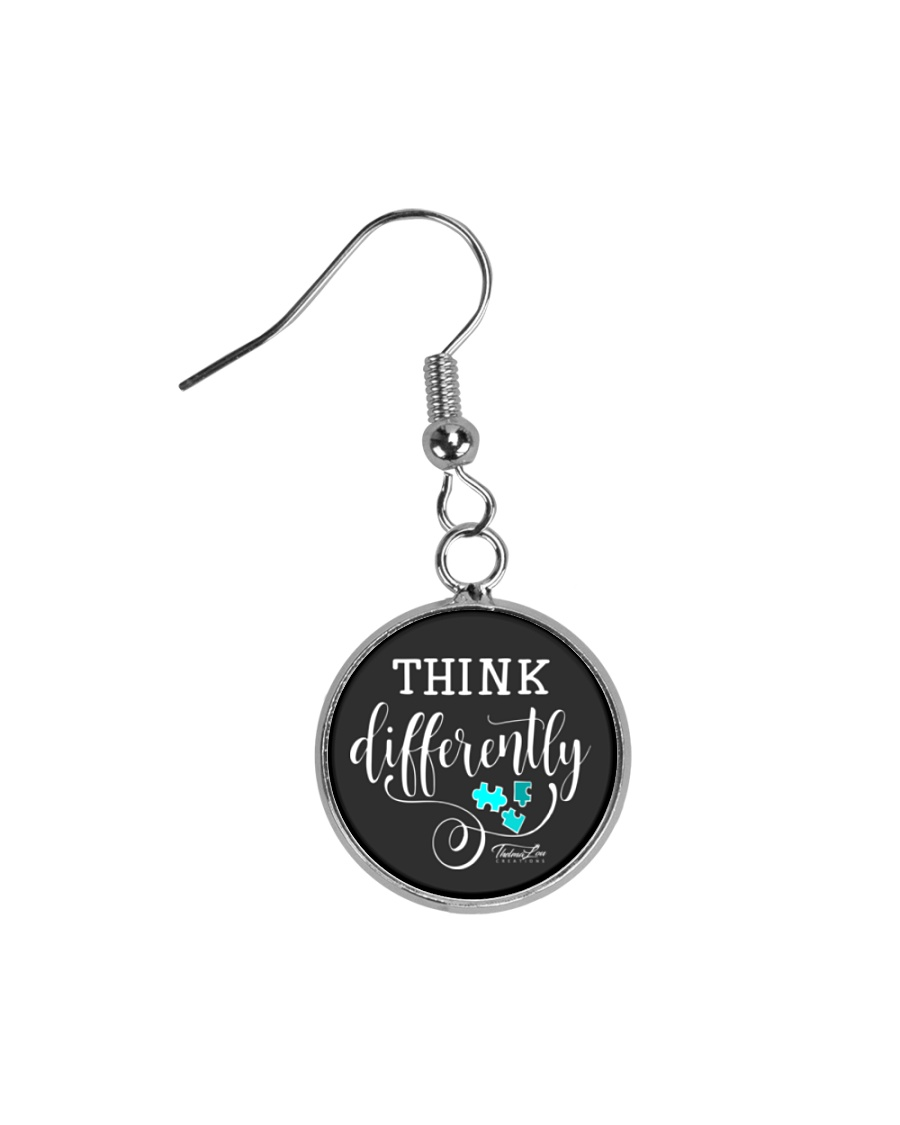Think Differently 1 Circle Earrings