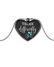 Think Differently 1 Metallic Heart Necklace front