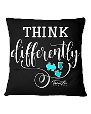 Think Differently 1 Square Pillowcase back