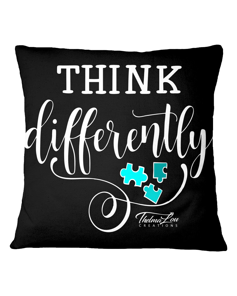 Think Differently 1 Square Pillowcase