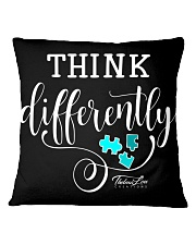 Think Differently 1 Square Pillowcase front