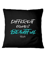 Different Equals Beautiful 2 Square Pillowcase thumbnail