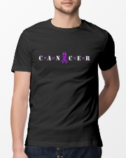 The Cancer Ribbon Classic T-Shirt lifestyle-mens-crewneck-front-13