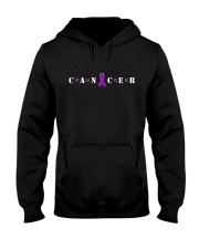The Cancer Ribbon Hooded Sweatshirt front