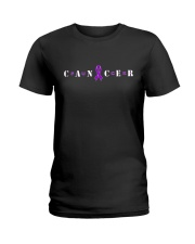 The Cancer Ribbon Ladies T-Shirt tile