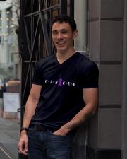 The Cancer Ribbon V-Neck T-Shirt lifestyle-mens-vneck-front-1