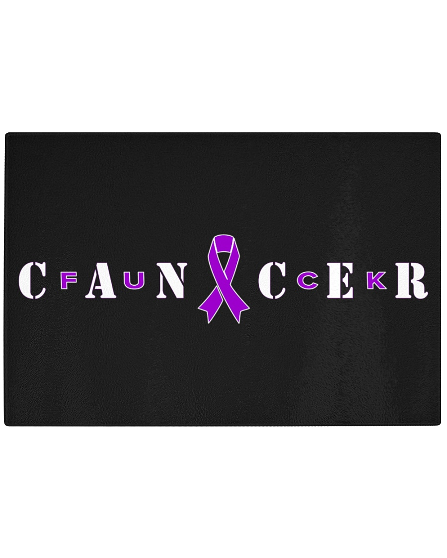 The Cancer Ribbon Rectangle Cutting Board