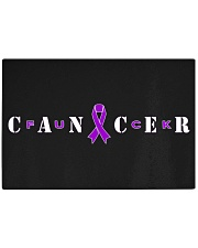 The Cancer Ribbon Rectangle Cutting Board front