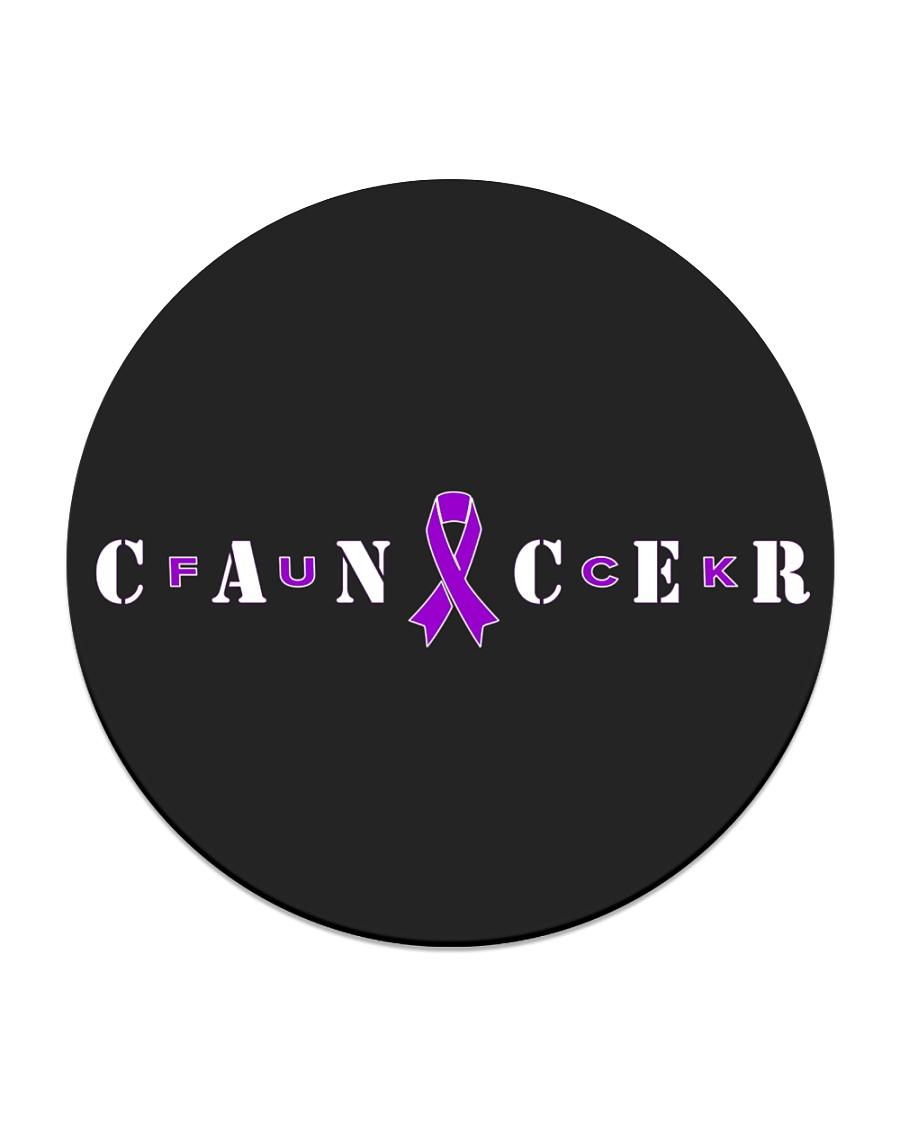 The Cancer Ribbon Circle Coaster