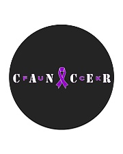 The Cancer Ribbon Circle Coaster tile