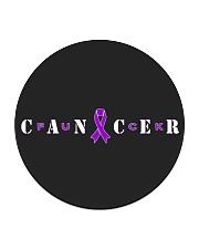 The Cancer Ribbon Circle Coaster front