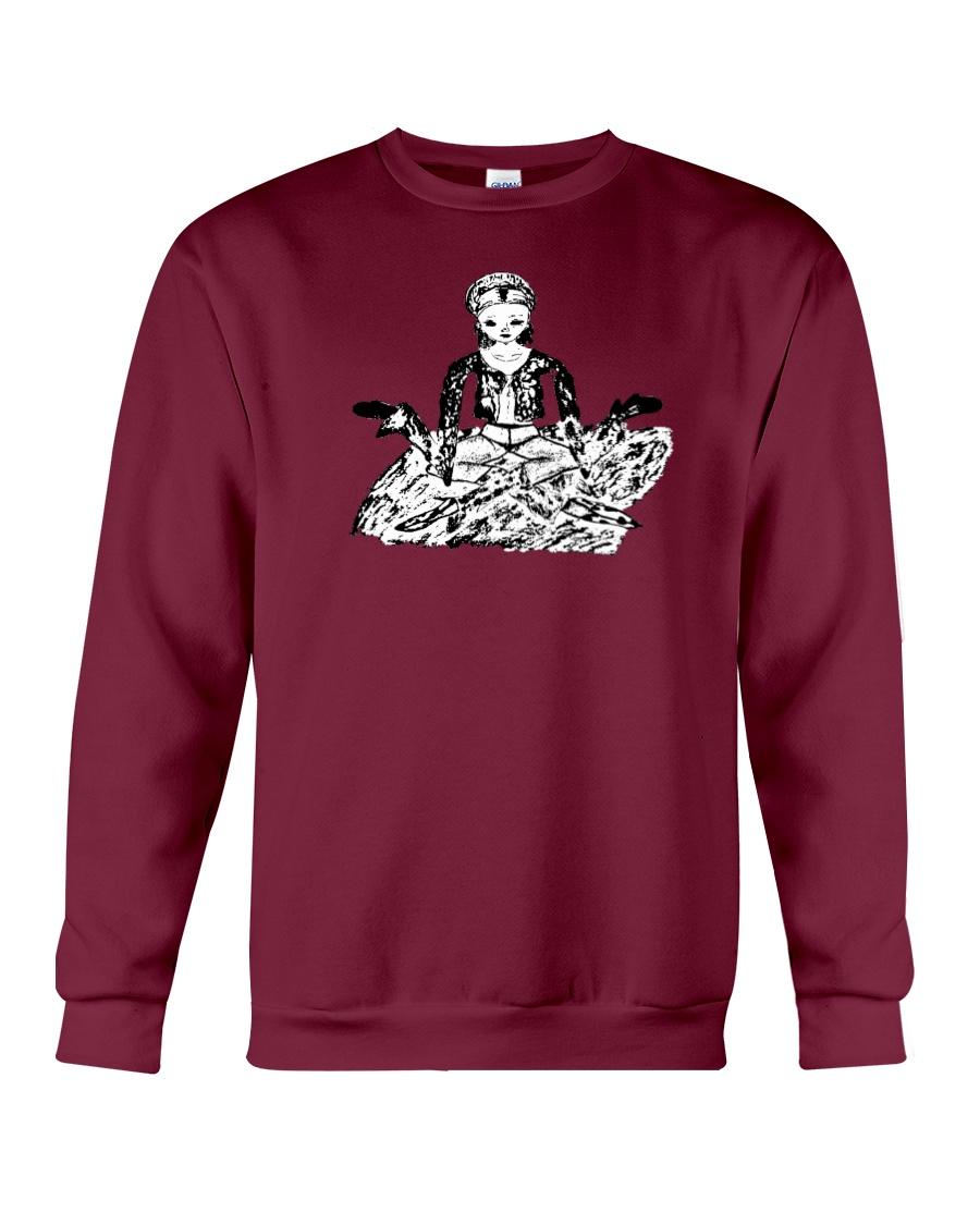 SELF PORTRAIT SERIES: hold on - i'm meditiating Crewneck Sweatshirt