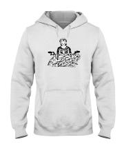 SELF PORTRAIT SERIES: hold on - i'm meditiating Hooded Sweatshirt thumbnail