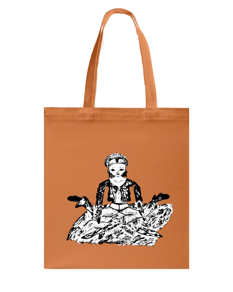 SELF PORTRAIT SERIES: hold on - i'm meditiating Tote Bag