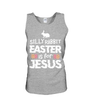 Silly Rabbit Easter is for Jesus for Easter Unisex Tank thumbnail