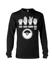 Rock Paper Scissors Table Saw Best Funny Carpenter Long Sleeve Tee thumbnail