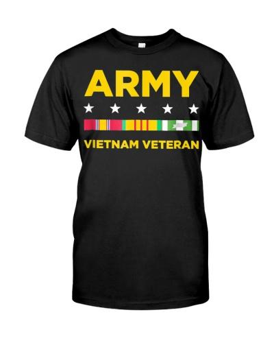 Mens Vietnam Veteran Shirt Army Veteran Tshirt Vet