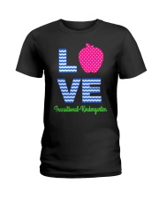 Love Transitional Kindergarten Shirt For Teacher K Ladies T-Shirt thumbnail