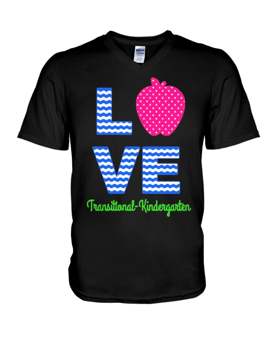 Love Transitional Kindergarten Shirt For Teacher K V-Neck T-Shirt