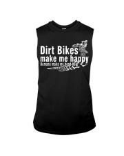 Dirt Bikes make me happy Sleeveless Tee thumbnail