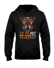 The Wolf Tshirt - Font print Hooded Sweatshirt thumbnail