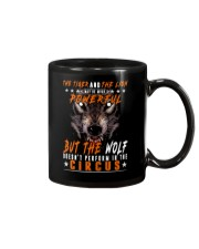 The Wolf Tshirt - Font print Mug tile