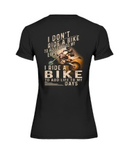 MX SHIRT -I RIDE A BIKE TO ADD LIFE TO MY DAYS Premium Fit Ladies Tee thumbnail