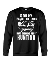 Funny Hunting mug Gift for Bow and Rifle Deer H Crewneck Sweatshirt thumbnail
