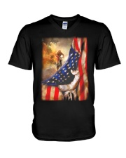 Rider Flag Tshirt V-Neck T-Shirt thumbnail