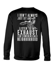LISTEN TO MY EXHAUST Crewneck Sweatshirt thumbnail