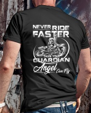 Never Ride Faster Than Your Guardian Angel Can Fly Classic T-Shirt lifestyle-mens-crewneck-back-2