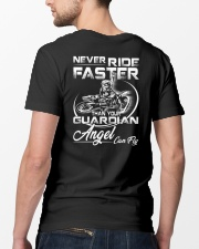 Never Ride Faster Than Your Guardian Angel Can Fly Classic T-Shirt lifestyle-mens-crewneck-back-5