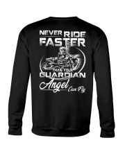 Never Ride Faster Than Your Guardian Angel Can Fly Crewneck Sweatshirt thumbnail