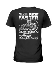 Never Ride Faster Than Your Guardian Angel Can Fly Ladies T-Shirt thumbnail