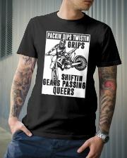 SHIFTIN GEARS PASSING QUEERS Classic T-Shirt lifestyle-mens-crewneck-front-6