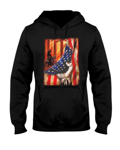 USA Flag Motocross